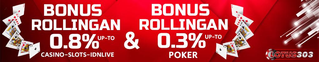 bonus rollingan terbaik judi online